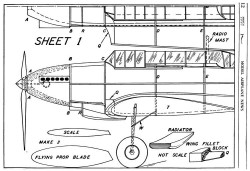 Fairey Battle p1 model airplane plan