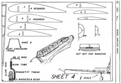 Fairey Battle p4 model airplane plan