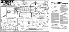 Fairey Gannet KK 20in model airplane plan