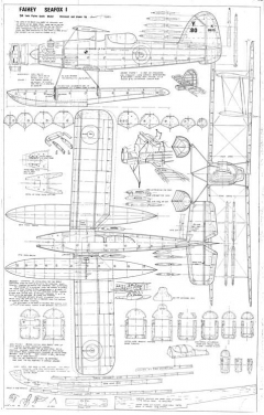 Fairey Seafox 1 (Astral) Reconnaissance Seaplane model airplane plan