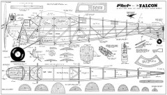 Falcon 3 pages model airplane plan