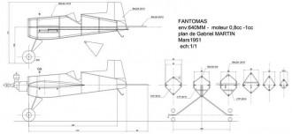 Fantomas model airplane plan