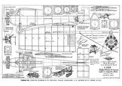 Farman F200 model airplane plan