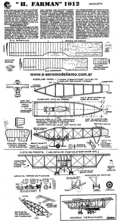 Farman-1912 model airplane plan