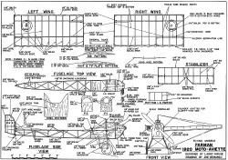 Farman 1920 Moto-Aviette model airplane plan