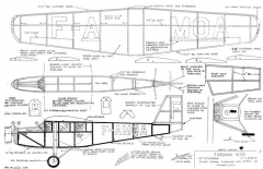 Farman 400 16in model airplane plan