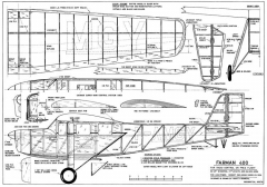 Farman 400 model airplane plan