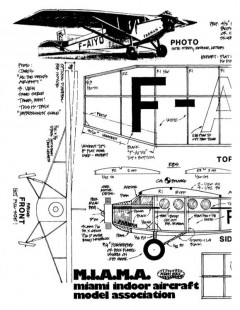 Farman F-190 pnut model airplane plan
