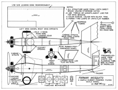 Farman Mosquito model airplane plan