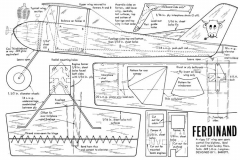Ferdinand 1967 plan model airplane plan