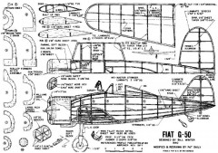 Fiat G-50 model airplane plan