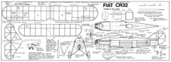Fiat CR-32 model airplane plan
