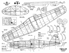 Fiat G-55-1 model airplane plan