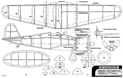 Fiat G.50 Fighter 16in Fineman model airplane plan