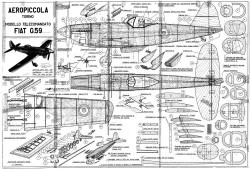 Fiat G.59 model airplane plan