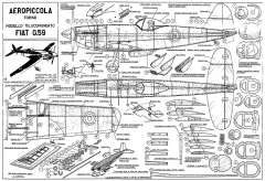 Fiat G.59 CL model airplane plan