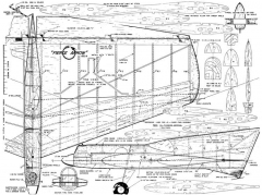 Fierce Arrow CL 54in model airplane plan
