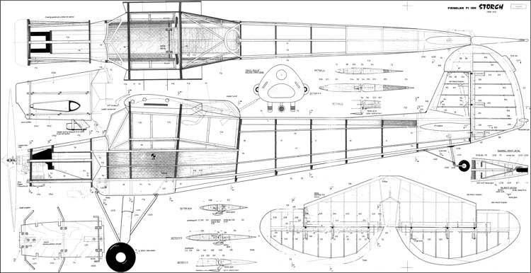 Fieseler Storch model airplane plan