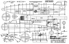 Fieseler V1 model airplane plan