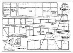 Fighter Fly model airplane plan