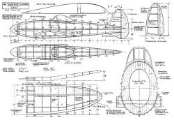 Fighter Glider model airplane plan