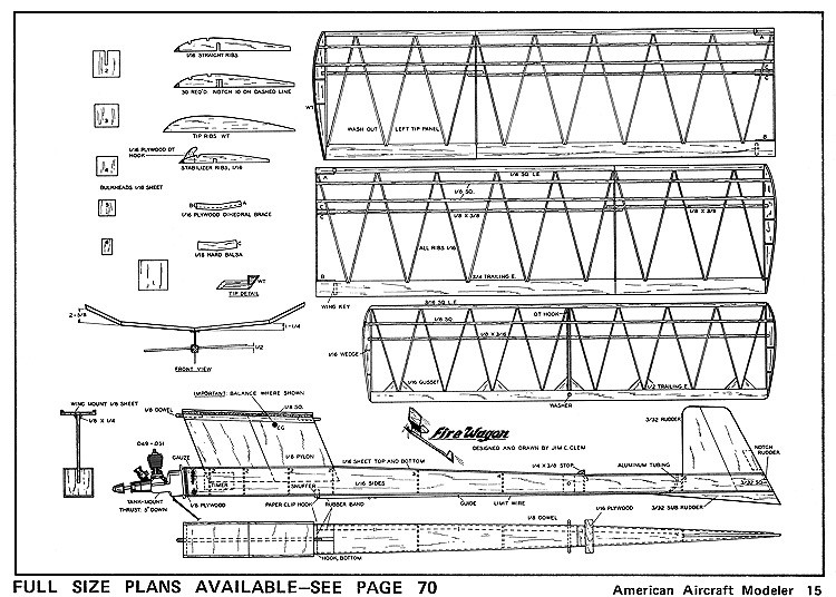 Fire Wagon-AAM 05-71 model airplane plan