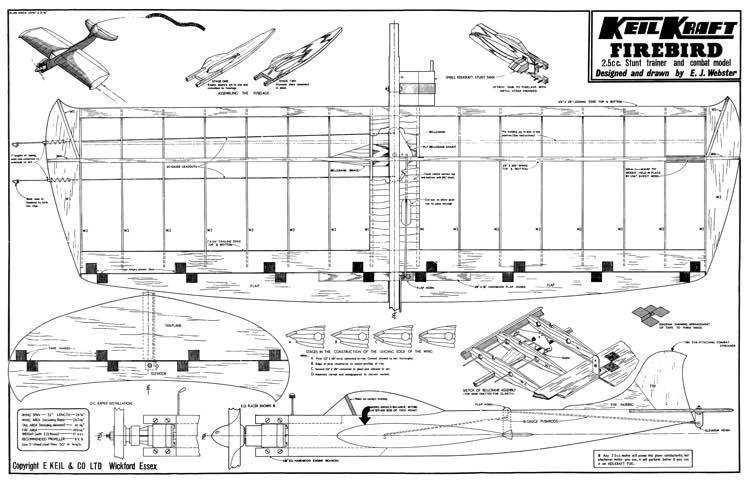 Firebird 32in model airplane plan