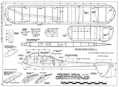 Firecrest 29in model airplane plan