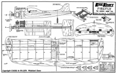 Firefly kk 20in model airplane plan