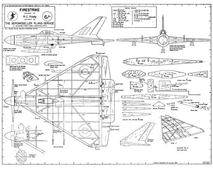 Firestrike CL model airplane plan