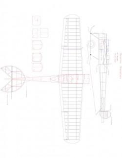 Flanders Model 1 model airplane plan