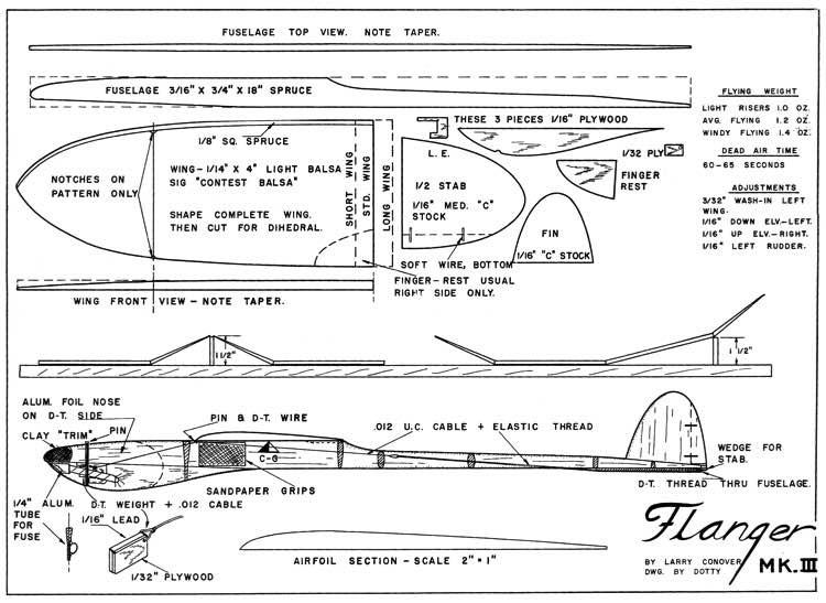 Flanger Mk III model airplane plan