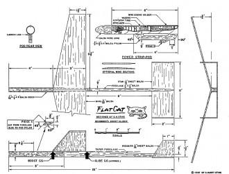 Flat Cat model airplane plan