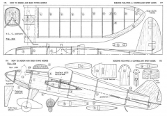 Flea-Whiz 22in model airplane plan