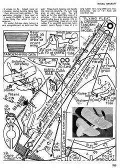 Flea Fli model airplane plan
