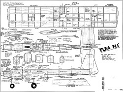 Flea Fli MAN 10 1968 model airplane plan