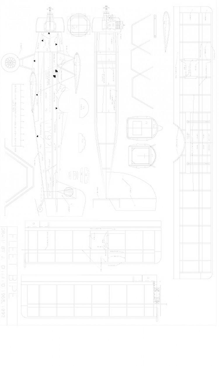Fleet Bipe model airplane plan