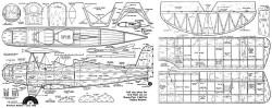 Fleet Bipe 62in model airplane plan