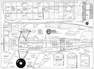 Fleet Model 1 model airplane plan