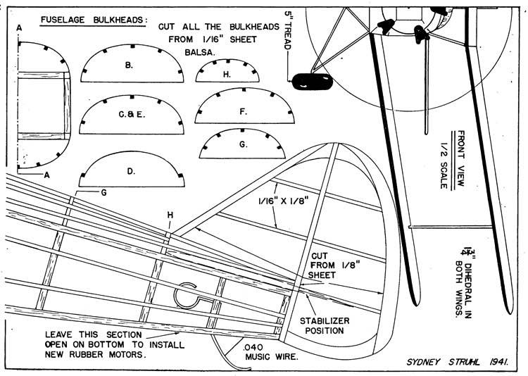 Fleet p2 model airplane plan