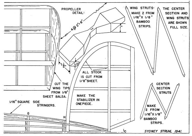 Fleet p4 model airplane plan