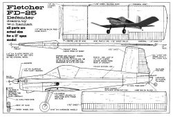 Fletcher Defender model airplane plan