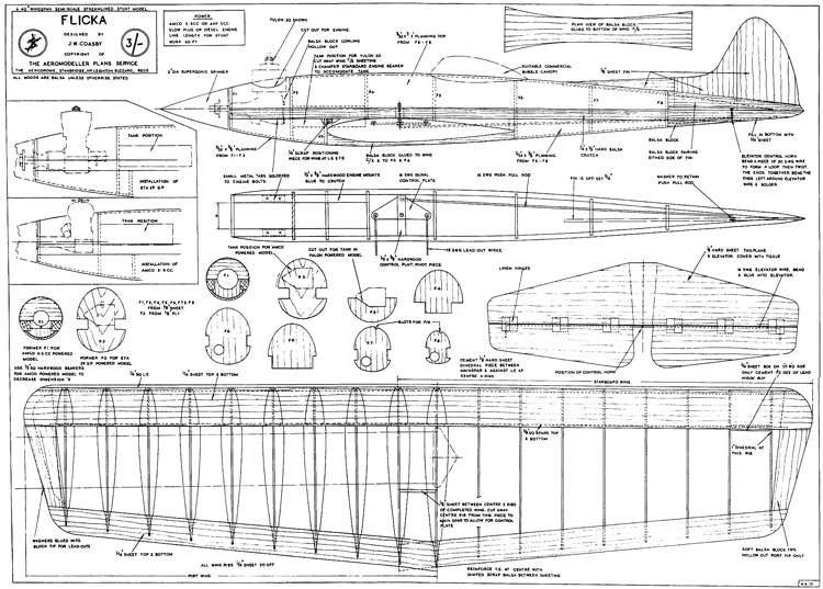 Flicka model airplane plan