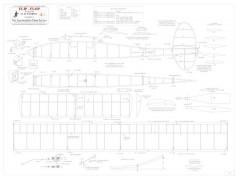 Flip Flop BW print model airplane plan