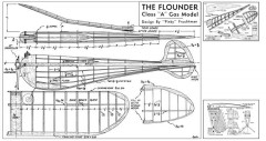 Flounder model airplane plan