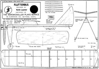 Flutterbus model airplane plan