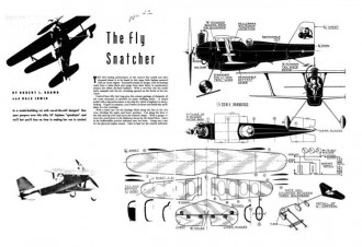 Fly Snatcher model airplane plan