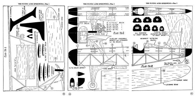 FlyingAcesSpeedwing model airplane plan