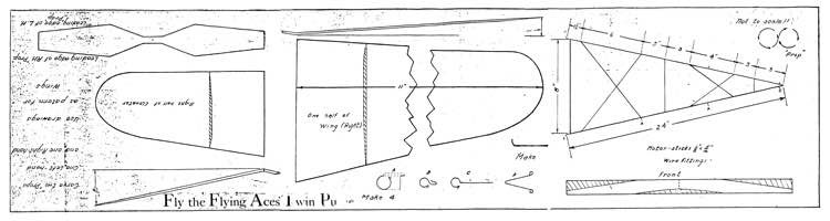 Flying Aces Twin Pusher model airplane plan