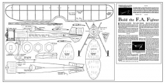 Flying Aces Fighter 20in model airplane plan